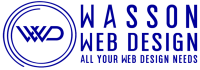 Dark Blue Transparent Wasson Web Design Logo